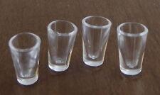 Melody Jane Dolls House Miniature Pub Kitchen 4 Water Tumbler Glasses