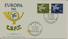 BRD FDC MiNr 367x-368x (11a) Europa (CEPT) 1961 -Vereinigung-Staatenbund-Politik