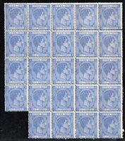 1879 Spagna colony Blocco 14a viola blu 25c Pesetas New**