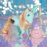 My Little Pony PRINCESS SERENA Aquamarine Bushwoolie CHEERY Wand Comb G1 BH888