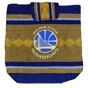 GOLDEN STATE WARRIORS NBA TEAM BLUE Woven Backpack  BAG NEW