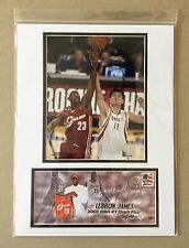LEBRON JAMES & YAO MING 2004 ROOKIE CHALLENGE 12X16 MATTED PHOTO & EVENT COVER