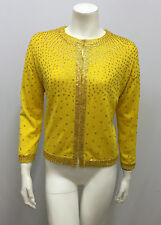 ROBERT RODRIGUEZ CASHMERE SEQUIN SWEATER YELLOW & GOLD SILK & CASHMERE XS FITS M