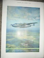 Miles Marathon Aircraft art advert 1946 ref AL