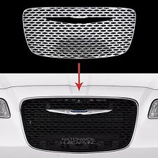 2015-2018 Chrysler 300 CHROME Snap On Grille Overlay Front Grill Cover Insert