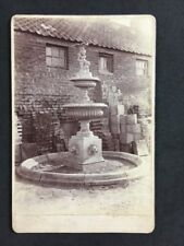 Unusual Victorian Cabinet Card: Fountain: Builders Yard: Stonemason Example Card