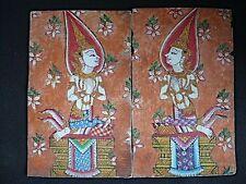 Paire d'Anciennes Peintures traditionnelles, THAILANDE