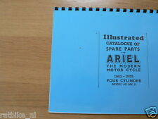 A0205-ARIEL---SPARE PARTS LIST---FOUR CYLINDER 4G MK2 1000cc-MODEL PHOTOCOPY
