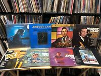 JOHNNY CASH 8 Vinyl Record Albums Walk The Line San Quentin Ring Of Fire Best LP