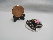 Miniature Dollhouse Ice Cream Cake Roll w/ Unfolded Box