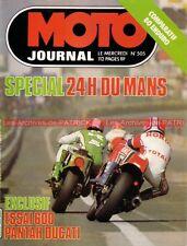 MOTO JOURNAL  505 DUCATI 600 Pantah MOTOBECANE 80 Enduro 24 Heures du Mans 1981