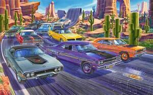 PLYMOUTH ROADRUNNER ART 1968 1969 1970 1971 74 383 426 WILE E COYOTE AIR GRABBER