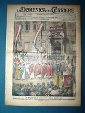La Domenica del Corriere originale 21 Giugno 1925 Vittorio Emanuele III Bennet
