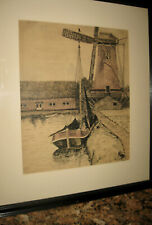 Well Listed Cleveland,OHIO artist, Ray Grathwol pen & ink &Crayon drawing-- 1917