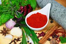 Paprika geräuchert, ungarischer Rauchpaprika mit mild - würzigem Buchenrauch.