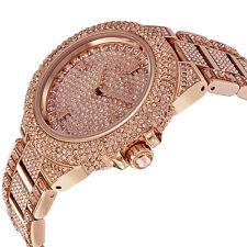 NEW MICHAEL KORS CAMILLE ROSE DIAL ROSE GOLD TONE CRYSTALT LADIES WATCH MK5862