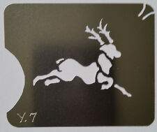 Stainless Steel Reinder leaping Christmas cake decorating / card making stencil