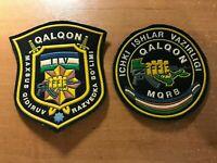 2 UZBEKISTAN PATCH POLICE SWAT SRT ELITE UNIT QALQON - ORIGINAL!