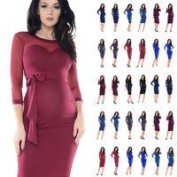 Purpless Maternity Elastic Sheer Mesh Heart Shaped Cleavage Pregnancy Dress D012
