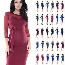 2c348bc706991 Purpless Maternity Elastic Sheer Mesh Heart Shaped Cleavage Pregnancy Dress  D012