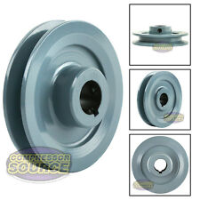"""4"""" Cast Iron Pulley 7/8"""" Shaft Sheave Single 1 Groove V Style A Belt 4L New"""