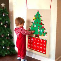 Felt DIY Christmas Tree Advent Calendar Fabric Advent Calendar with Pockets