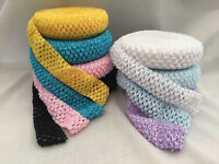 "Crochet Tutu Elastic By The Metre - Waistband Headband Soft Tops Fairy 1.5"""