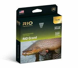 NEW ELITE RIO GRAND WF-4-F #4 WEIGHT FORWARD FLOATING FLY LINE WITH SLICKCAST