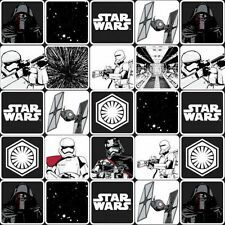 Star Wars The Force Awakens Grid Black Patchwork Fabric 50cm (1/2mtr) -  7770075