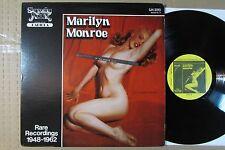 MARILYN MONROE rare recordings 1948-1962 VINTAGE VINYL LP nude cheesecake NM-