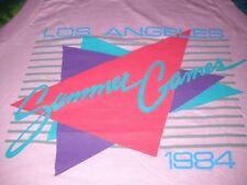 Summer Olympics 1984 Los Angeles Games Vtg.Pink T-Shirt Womens Sleeveless-S-New