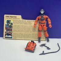 Gi Joe Cobra action figure military Hasbro complete 1985 Fire Fighter Barbecue