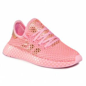 adidas Originals Deerupt Runner W Women Lifestyle Sneakers Shoes New Pink EF5386