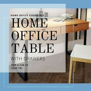 Contemporary Minimalist Home Office Table for Sale in White Oak Color