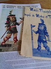 """T7 PATRON POUPEE MARIE  FRANCOISE  MODES ET TRAVAUX"""" COSTUME D'INDIENNE  1970"""