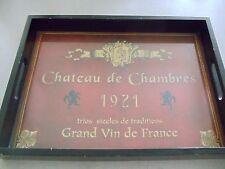 Food Tray-- Chatean de Chambres, 1921 Grans vin de France