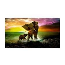 Baoblaze Full Drill Elephants 5D Diamond DIY Painting Craft Kit Wall Decor