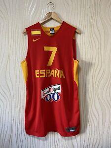 SPAIN BASKETBALL SHIRT JERSEY NAVARO # 7 NIKE 606304-600