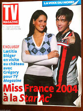 TV Magazine 28/11/2004; Star Ac', Grégory Lemarchal/ Miss France/ Seb Loeb