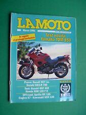 LA MOTO Marzo 1991 Ducati 907 ie Aprilia RX 125 Cagiva K7 Kawasaki KDX 125
