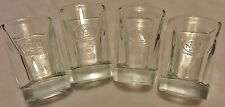 Set of 4 Jack Daniels No.7 Logo Heavy Based Shot Glasses....NEW