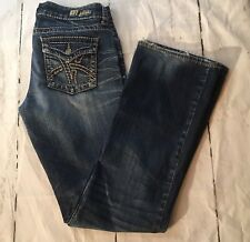 Kut from the Kloth So Low Boot Cut Flap Pockets Sz 6 Actual 32x32 Distressed