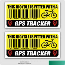 2 x This Bicycle Is Fitted With a GPS Tracker Anti-Theft Self Adhesive Sticker