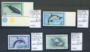 St. Vincent Grenadines 1980 Whales & Dolphins wmk. varieties mint(2021/02/21#01)