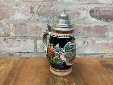 Vintage Ceramic German Tankard Beer Mug