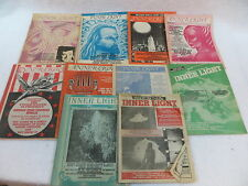 Lot of 10 issues of INNER LIGHT Magazine (New Age, Paranormal, UFO's) 1982-1991