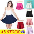 AU Fashion Womens Slim Thin High Waist Pleated Tennis Skirts Mini Dress Playful