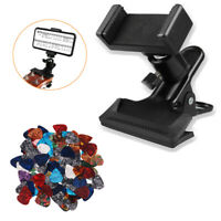 Guitar Headstock Mobile Phone Holder Bracket Stand Mobile Phone Clip with Picks