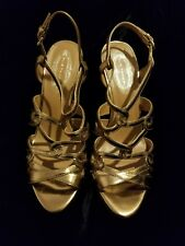 ELIE TAHARI Gold High Heel Sandal