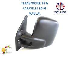Manual Wing Side Mirror Glass Flat LEFT Fits VW Transporter T4 Bus 1990-2003